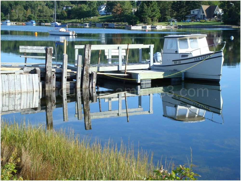 Boat Reflection at Marriotts Cove, NS