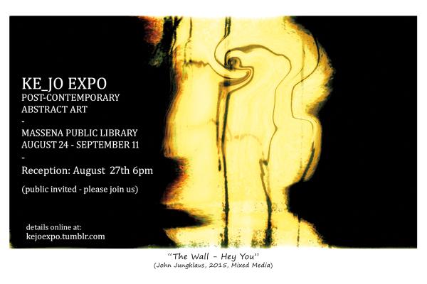 KE_JO EXPO, ABSTRACT ART, MASSENA PUBLIC LIBRARY