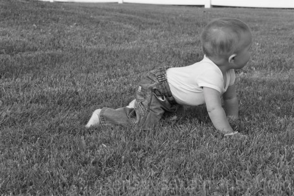 Baby playing