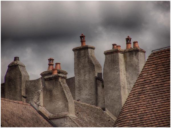 chimneys     rooftops