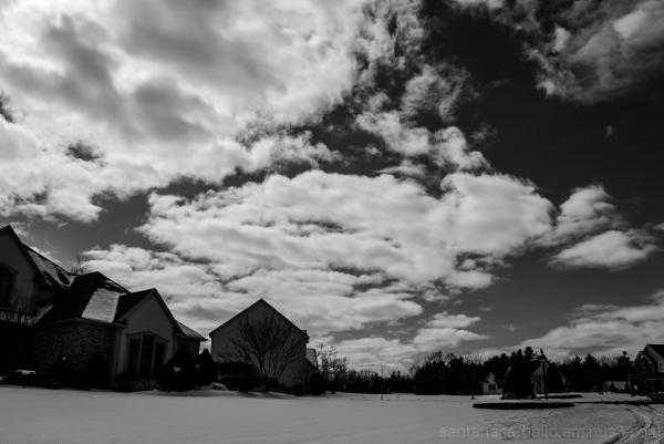 cloudy sky in my neighborhood