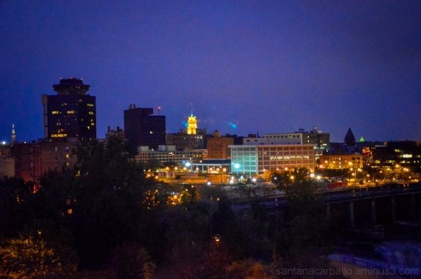 Rochester city at night