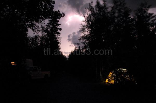 Campground light storm