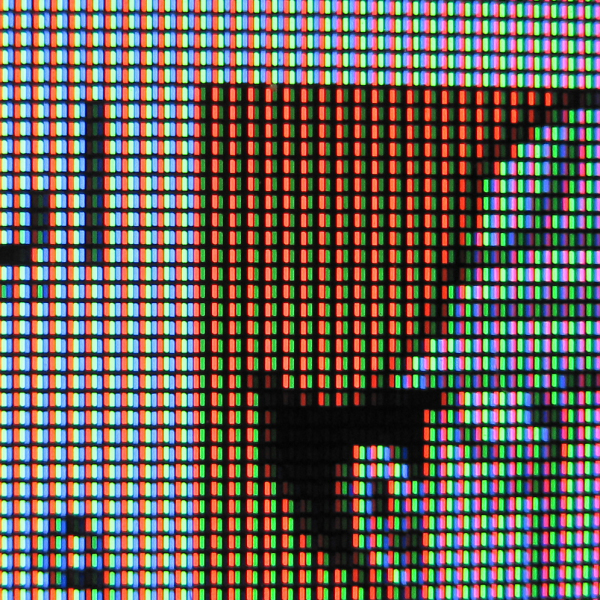Close Up To The Sub Pixel Of LCD