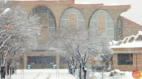 دانشکده فنی زیر بارش برف سنگین