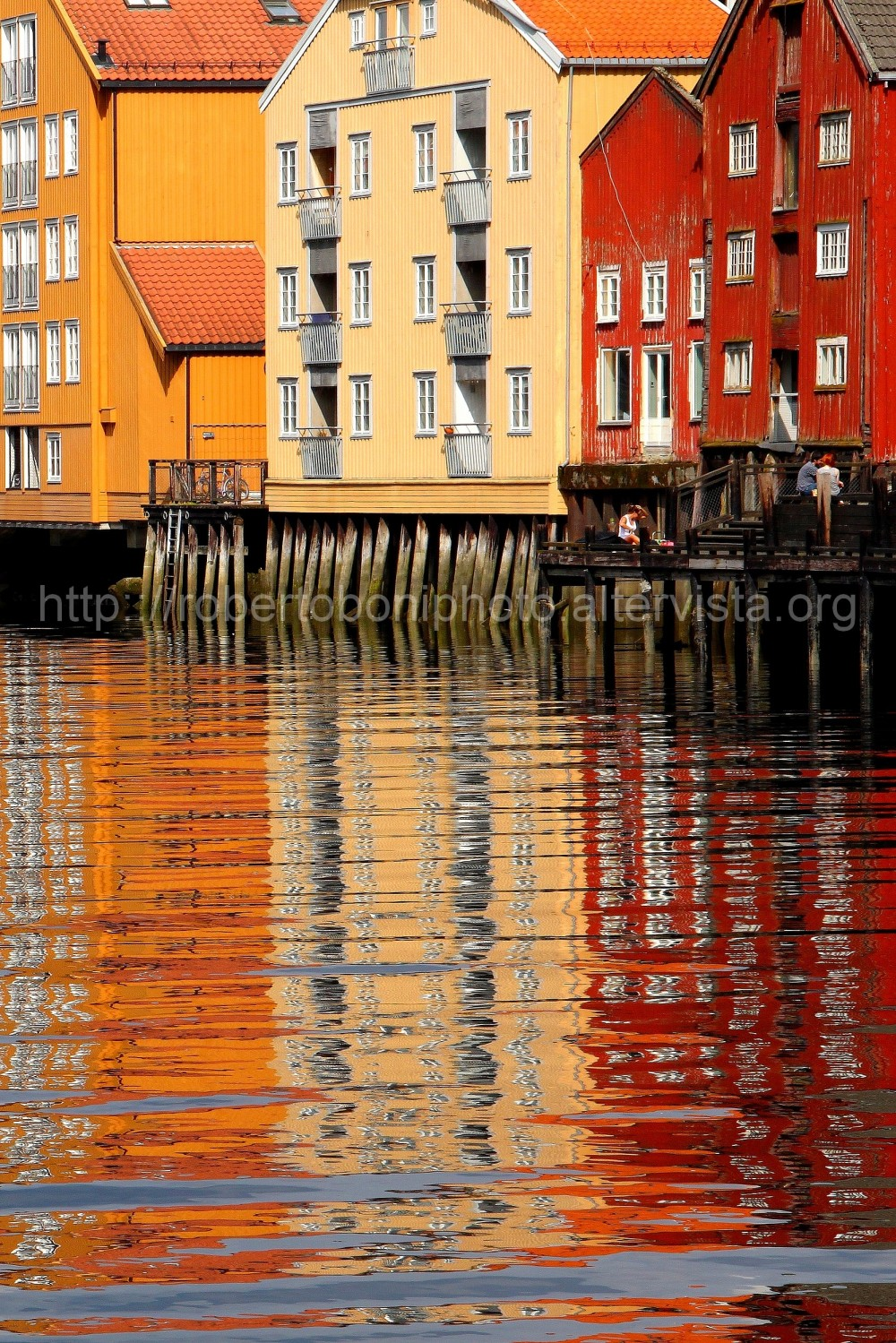 the warehouses of Trondheim, Norway