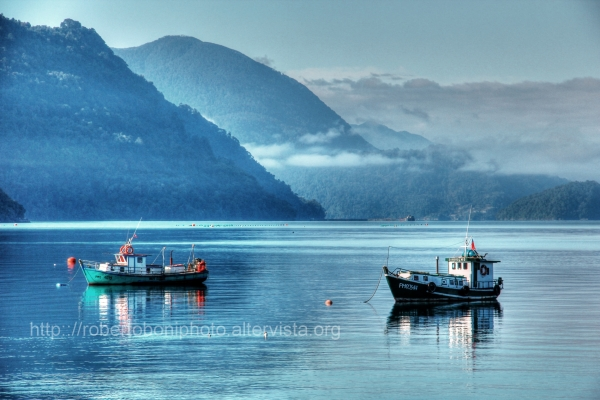 the Fjord of Hornopiren, Chile