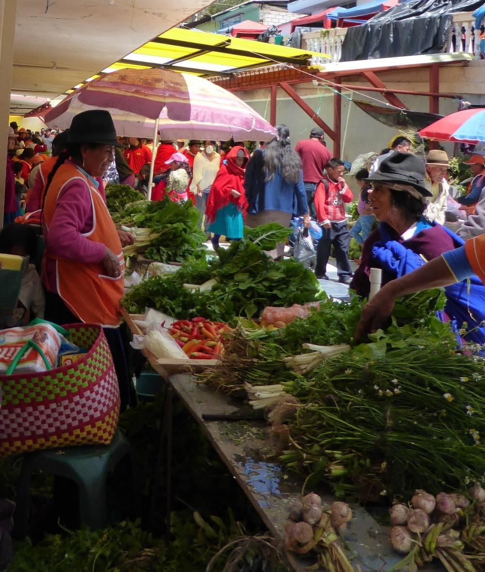 VOYAGE EN EQUATEUR : femmes au marché (2)