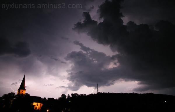 thunderbolt, lightning, church