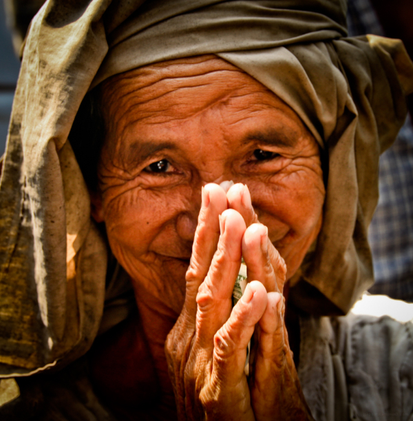 A lady from Neak Leung, Cambodia