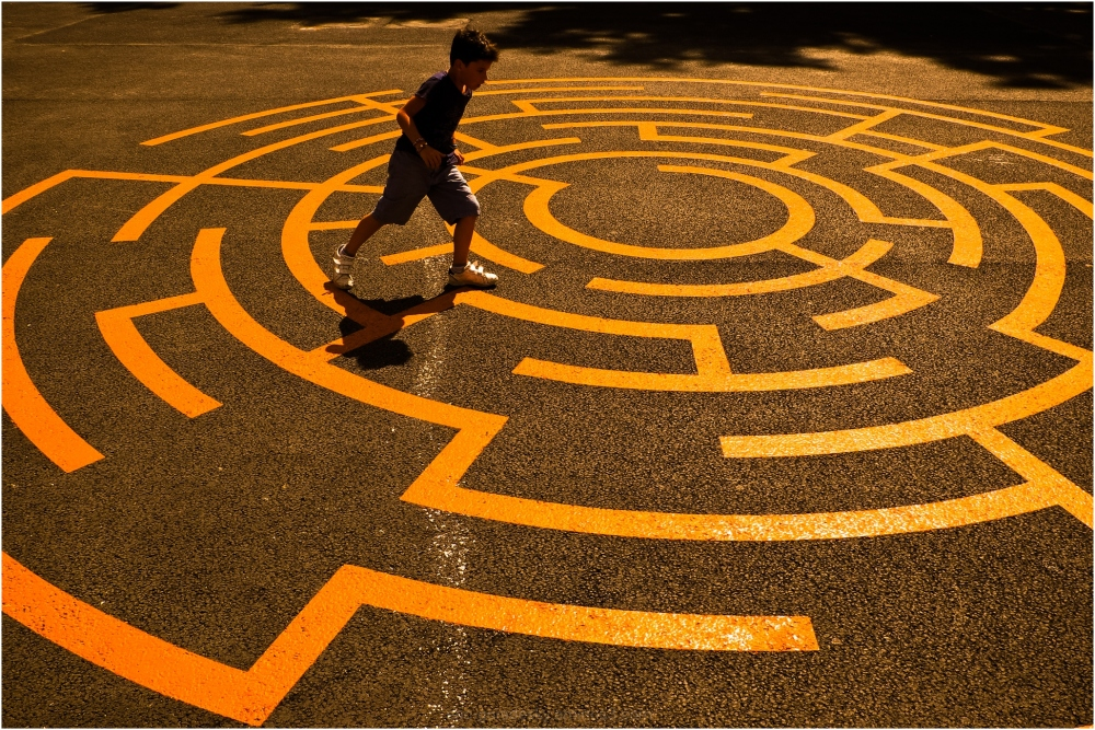Sortir du labyrinthe .