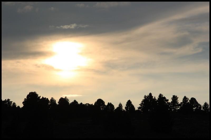 coucher de soleil sur le vercors