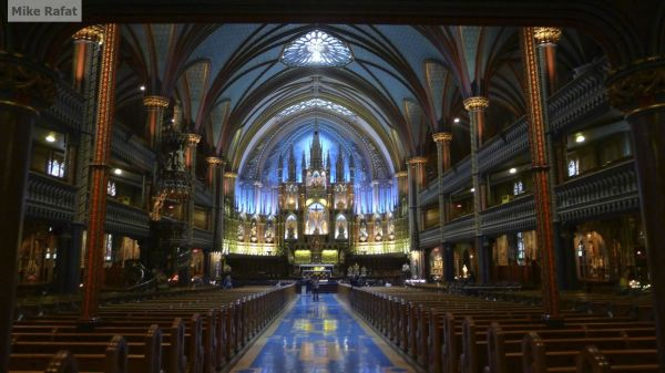 Notre Dame in Montreal-Inside View