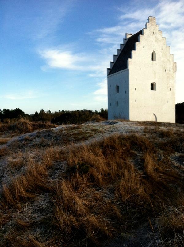 the sand burried church, Skagen, Winter