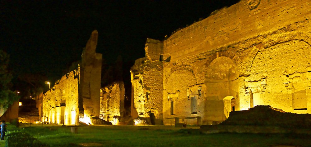 Ruins by night