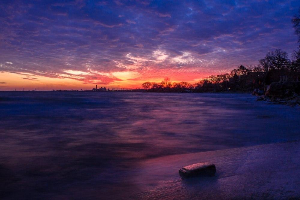 Long exposure Toronto sunset