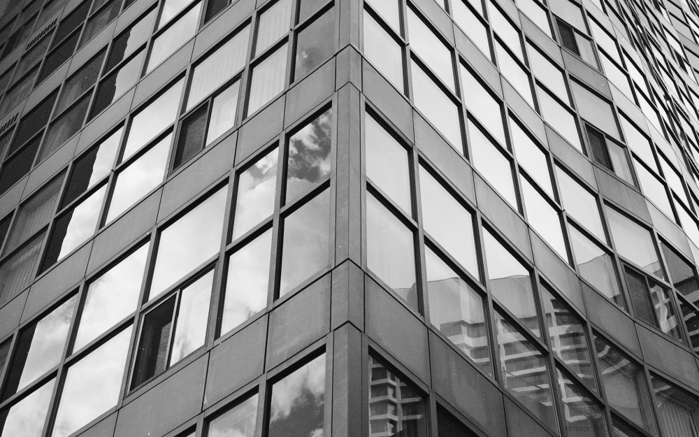Abstract windows in downtown Toronto