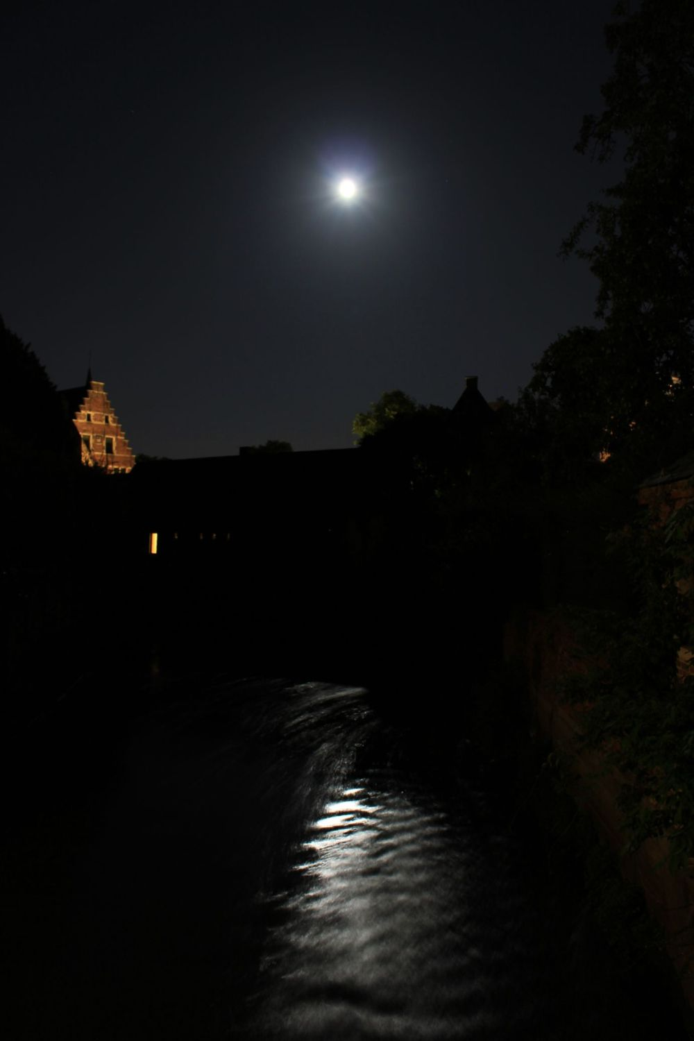 Full moon over the Leuven beguinage