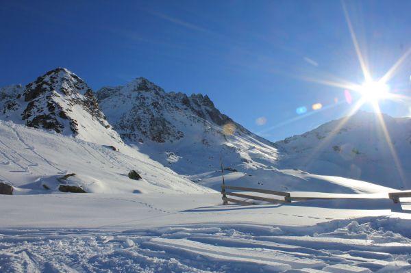 Sunny Ski slopes