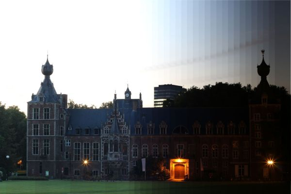 Arenberg Castle in Heverlee during sunset
