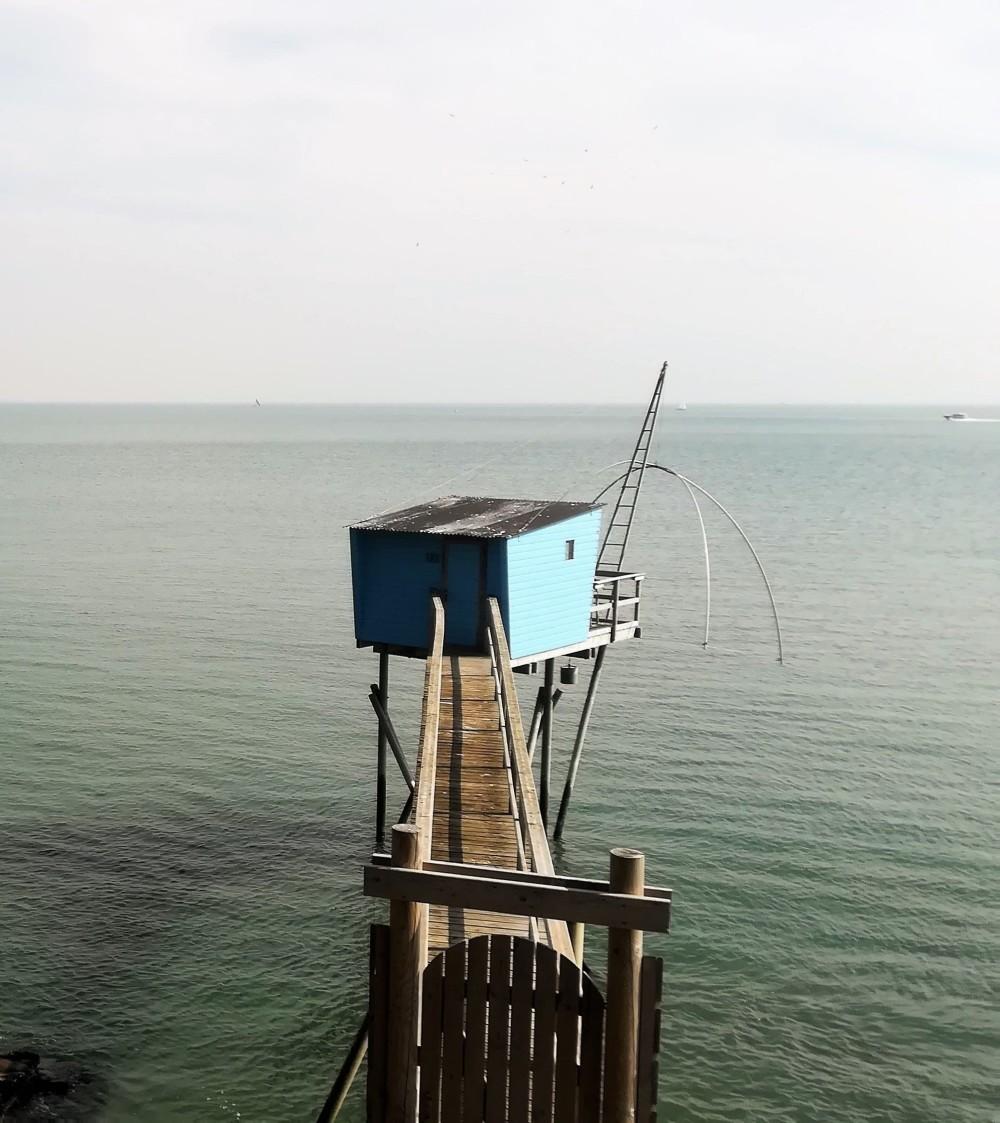 Cabane de pêcheur ( carrelet ) à Pornic