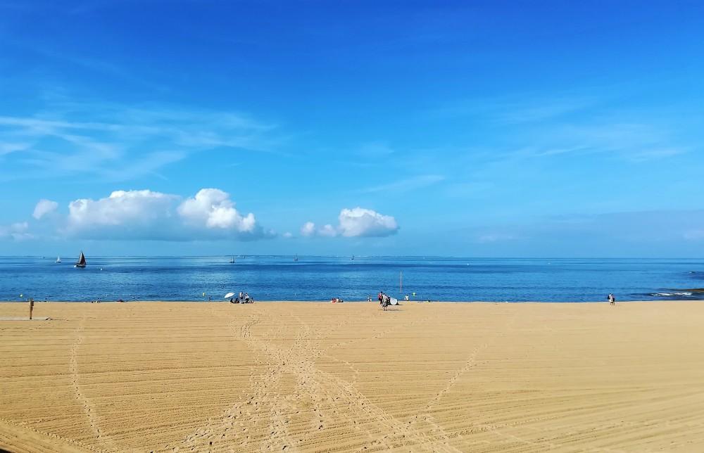 La plage commence à s'animer ....