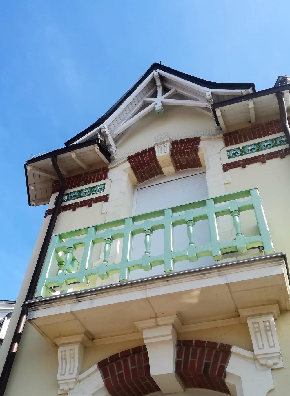 Belle architecture des maisons du bord de mer
