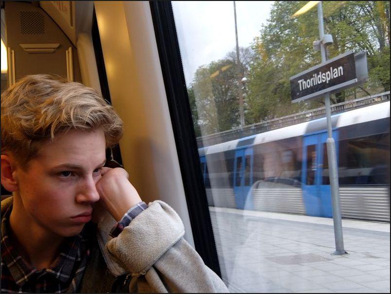 Jeune homme blond