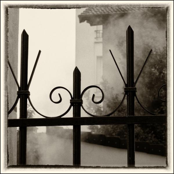 La fumée dans le jardin