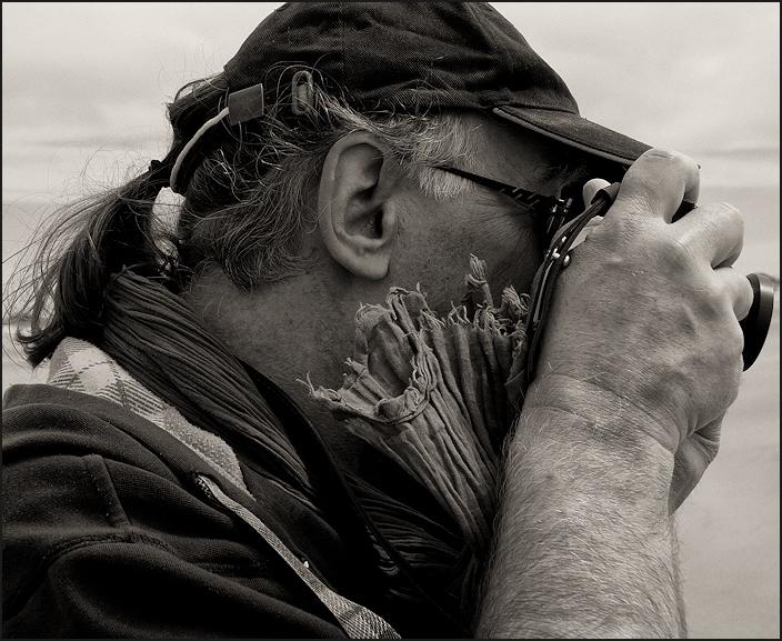 Photographe à la brise marine
