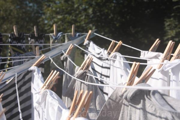 Evening sun on washing