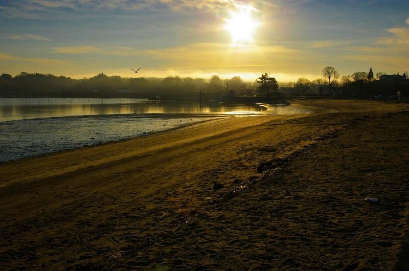 Dawn, at Hingham Beach MA.