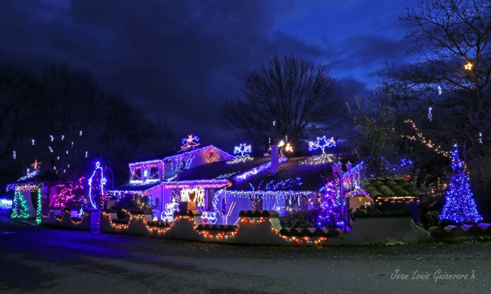 Lumières de Noël.