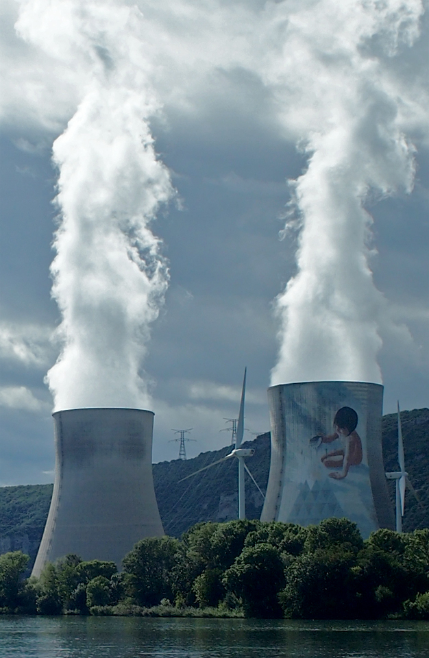 Nuclear power plant on Rhone River
