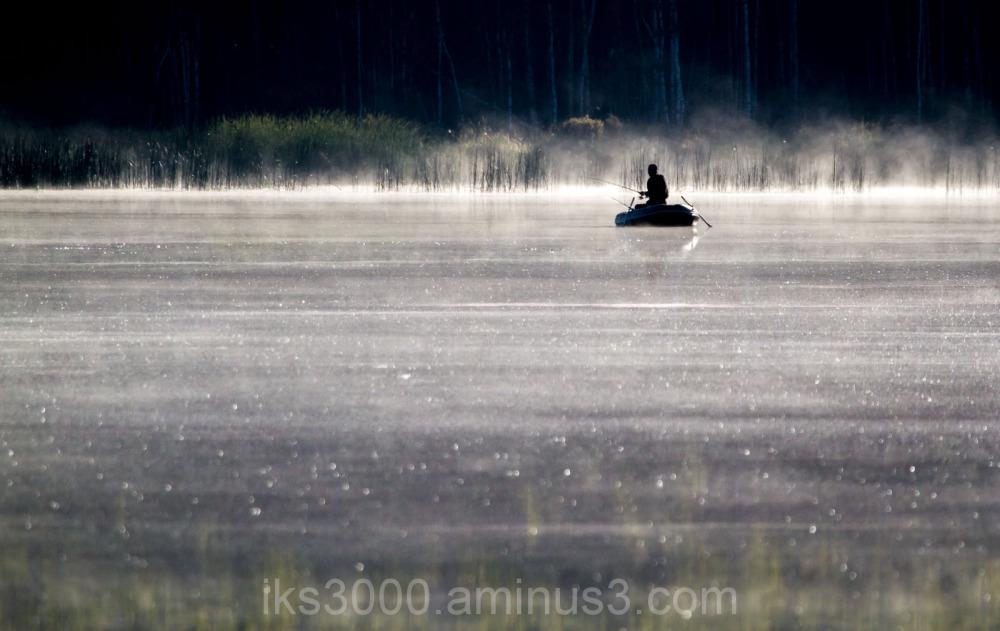 Fisherman in the fog