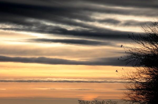 Ciel en hauteur des falaises de la Hève