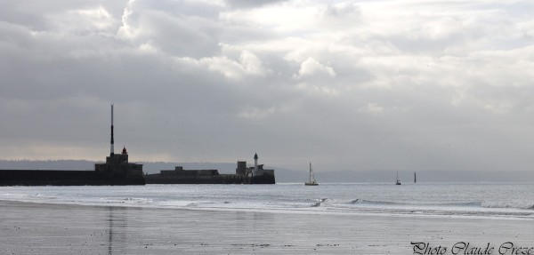 Digue de la plage du Havre