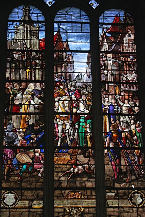 Vitrail de la cathedrale notre dame au Havre