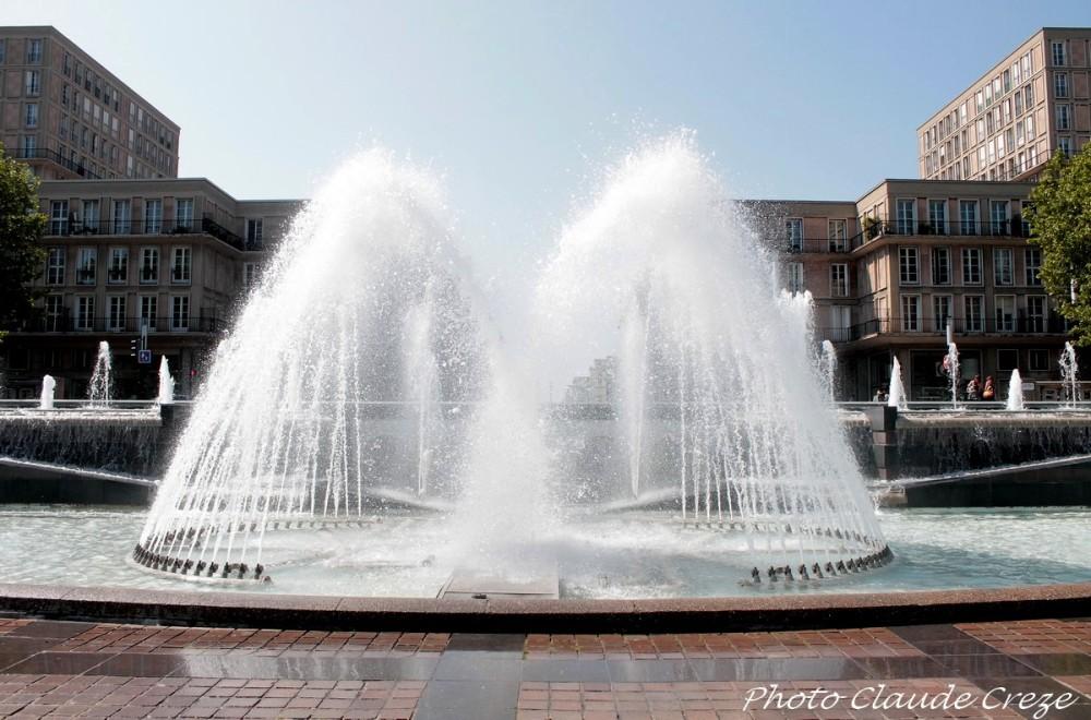 Nos jets d'eau de l'hotel de ville du Havre