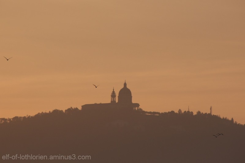 Basilica of Superga at sunrise