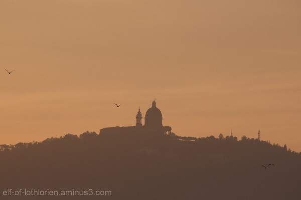 Basilica of Superga at sunrise