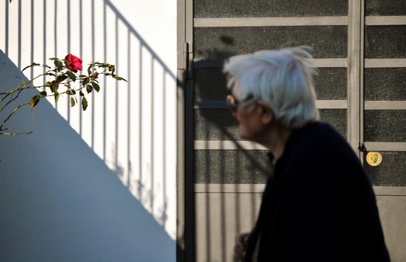 La dona que es mira la rosa