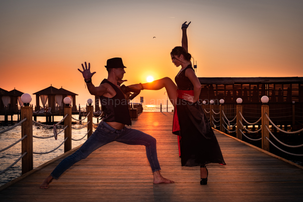 dance on the beach
