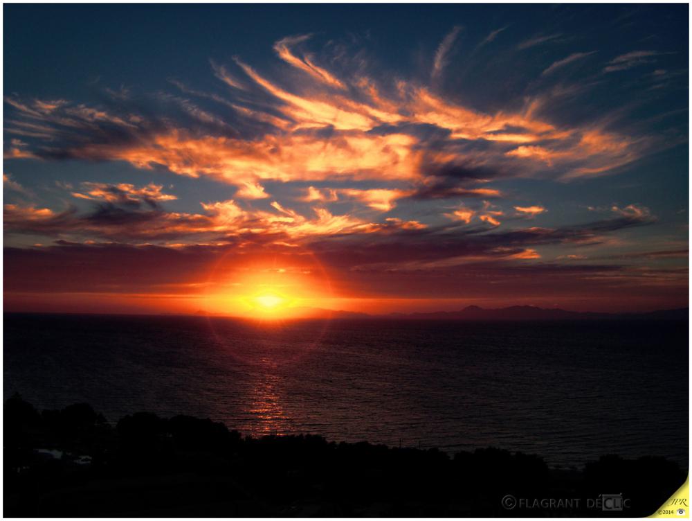 Coucher du soleil à Rhodes - Sunset at Rhodes