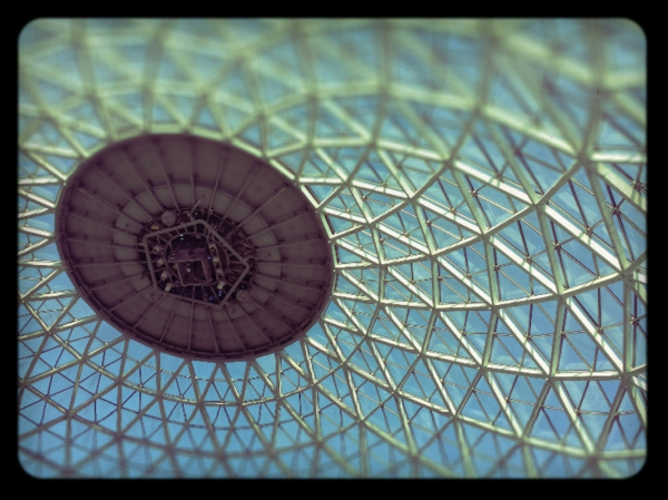 the top of the domes