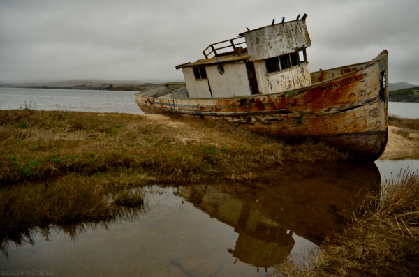 The boat at Point Reyes