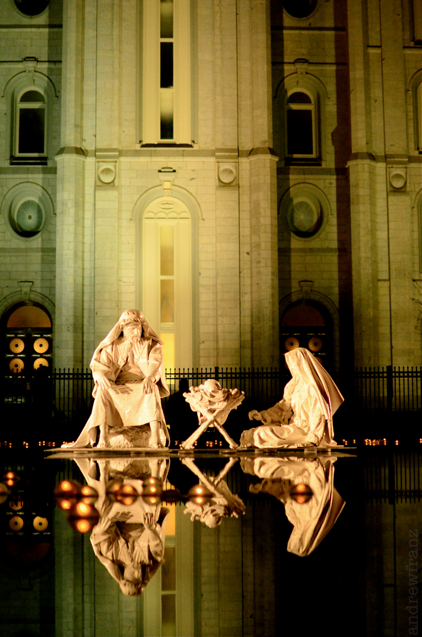 Christmas at the Mormon temple in Salt Lake City