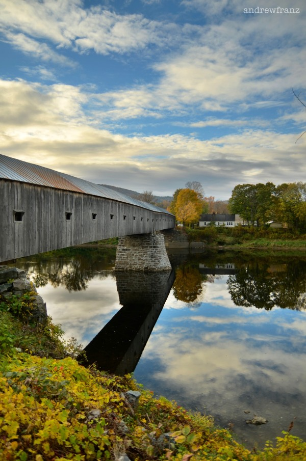 Covered bridge between Vermont and New Hampshire