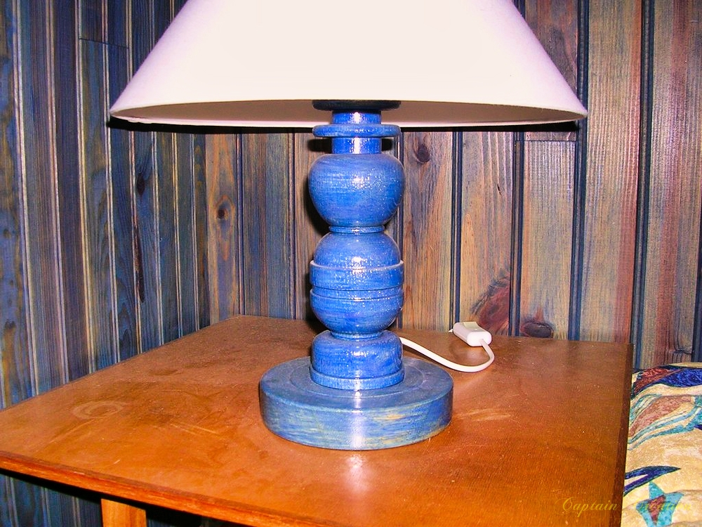 Deuxième lampe bleue