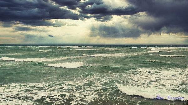 Mer et pluie